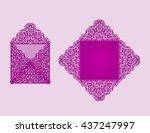 square laser cut envelope... | Shutterstock .eps vector #437247997