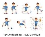set of football player...