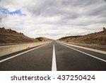 empty highway. road  | Shutterstock . vector #437250424