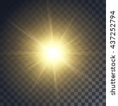Vector Yellow Sun With Rays An...