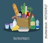 vector illustration  fresh... | Shutterstock .eps vector #437252917
