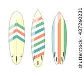 vector set of decorated... | Shutterstock .eps vector #437260231