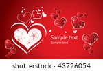 valentin s day card with hearts | Shutterstock .eps vector #43726054