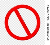 no sign. isolated on... | Shutterstock .eps vector #437270959