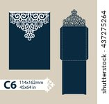 layout congratulatory envelope...   Shutterstock .eps vector #437275264