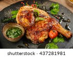 grilled chicken tabaka with... | Shutterstock . vector #437281981