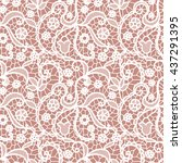 white lace seamless pattern... | Shutterstock .eps vector #437291395