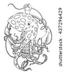 Coloring Page About Octopus An...