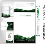corporate identity template... | Shutterstock .eps vector #437297767