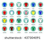 euro 2016 championship. set of... | Shutterstock .eps vector #437304091