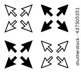vector set   arrow sign  ... | Shutterstock .eps vector #437305351