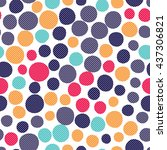 seamless dots pattern with... | Shutterstock .eps vector #437306821