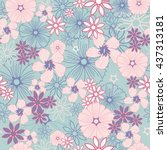 color seamless vector...   Shutterstock .eps vector #437313181