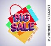 vector design big sale banner...   Shutterstock .eps vector #437333995
