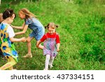 the children lead an active a... | Shutterstock . vector #437334151