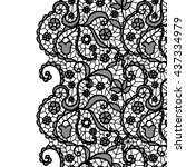 seamless lace border. vector... | Shutterstock .eps vector #437334979