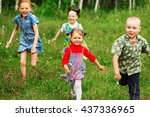 the children lead an active a... | Shutterstock . vector #437336965