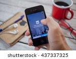 bangkok thailand   june 15 ... | Shutterstock . vector #437337325
