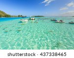 papeete  french polynesia  ... | Shutterstock . vector #437338465