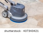 carpets chemical cleaning with... | Shutterstock . vector #437343421