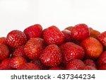 ripe strawberries. bright...   Shutterstock . vector #437344234