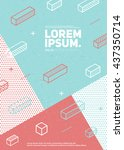 future geometric poster with... | Shutterstock .eps vector #437350714
