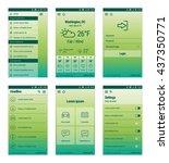 green set of mobile user...