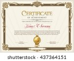 certificate of achievement... | Shutterstock .eps vector #437364151