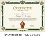 certificate of completion... | Shutterstock .eps vector #437364199
