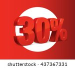 30 percent off  sale background ... | Shutterstock .eps vector #437367331