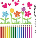 valentines background | Shutterstock .eps vector #43737208