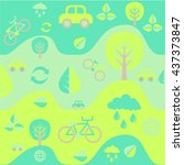 color ecology pattern | Shutterstock .eps vector #437373847