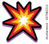 vector explosion isolated on... | Shutterstock .eps vector #437382211