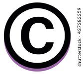 vector copyright icon isolated... | Shutterstock .eps vector #437382259