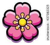 vector cherry bloom isolated on ...   Shutterstock .eps vector #437382325