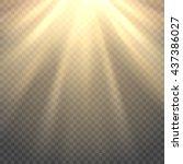 vector sunlight. sun beams or... | Shutterstock .eps vector #437386027