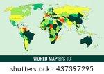 high detail world map. vector...   Shutterstock .eps vector #437397295