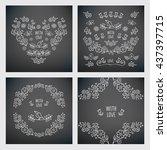 set of vintage floral elements... | Shutterstock .eps vector #437397715
