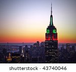 new york city skyline at sunset | Shutterstock . vector #43740046
