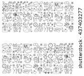 doodle vector kindergarten...   Shutterstock .eps vector #437403277