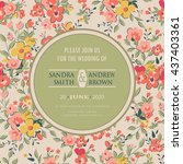 invitation or announcement card ... | Shutterstock .eps vector #437403361