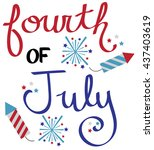 fourth of july fireworks | Shutterstock .eps vector #437403619