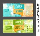 gift voucher template. | Shutterstock .eps vector #437404657