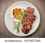 Grilled Sliced Steak And...