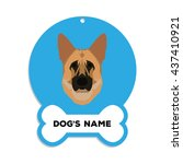 isolated blue dog tag with text ... | Shutterstock .eps vector #437410921