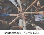 casual people activities frame... | Shutterstock . vector #437411611