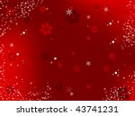 merry christmas background with ... | Shutterstock . vector #43741231