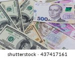 banknotes  image of dollars and ...   Shutterstock . vector #437417161