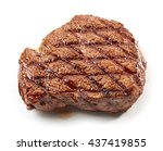 grilled beef steak isolated on... | Shutterstock . vector #437419855