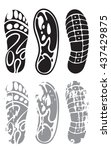 footprint sport shoes | Shutterstock .eps vector #437429875